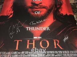 Thor Stan Lee Chris Hemsworth Tom Hiddleston Cast Signed 1-Sheet Movie Poster +