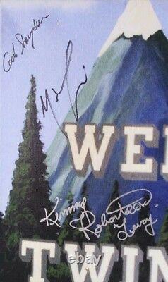 Twin Peaks Canvas 9 Cast Signed Coa David Lynch Kyle Maclachlan Goaz Robertson