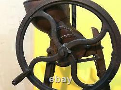 Vintage Apple Grinder / Cider Wine Press, Cast Iron, Montgomery Ward, Wood Base