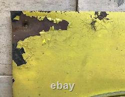 Vintage P&H Pawling & Harnischfeger Crane Sign Cast Iron Advertising Sign Yellow