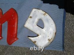 Vintage Rare 1950's Firestone Metal Cast Porcelain Sign Letters