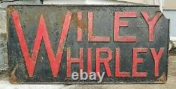 Vintage Wiley Whirley Cranes Port Deposit, MD Cast Iron Plaque Sign 96 Lbs 45x22