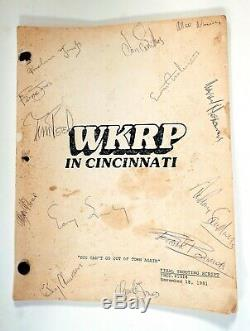WKRP In Cincinnati Shooting Script Signed by Whole Cast