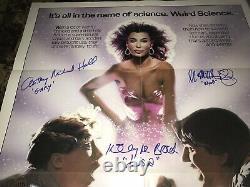 Weird Science Rare Cast Signed Original 1-Sheet Movie Poster Exact Photo Proof