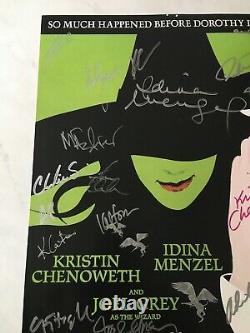 Wicked Original Broadway Cast SIGNED Poster Idina Menzel Kristin Chenoweth