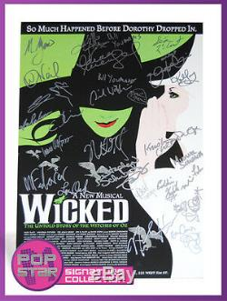 Wicked Original Cast SIGNED 14x22 Window Card Stephen Schwartz Idina Menzel COA
