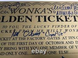 Willy Wonka All Kids x5 Signed Framed Golden Ticket JSA COA Autograph Movie Cast