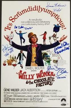 Willy Wonka Kids 5-autograph cast signed movie poster 11x17 Photo OC Holo + COA