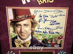 Willy Wonka & the Chocolate Factory Rare Cast Signed Movie Photo Gene Wilder PSA