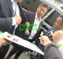 Yifei Liu signed Mulan poster cast x exact photo proof Crystal Liu Disney sexy