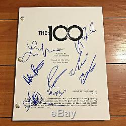 100 Cent Signé Script Pilot Complète Par 5 Cast Members Marie Avgeropoulos