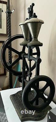 1900 Rare Antique Coles Mfg Cola Soda Shaker Milkshake Machine Cast Iron Signe