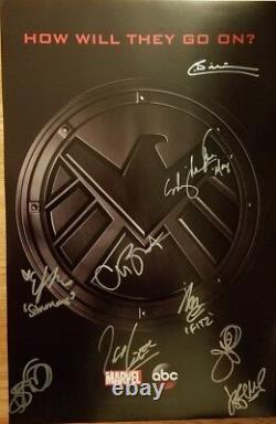 2018 Sdcc Exclusive Marvel Agents Of Shield Cast Signé Affiche Abc Comic Con