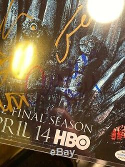 2019 Hbo Got Game Of Thrones Cast Signé Affiche Dédicacée Sdcc Rare