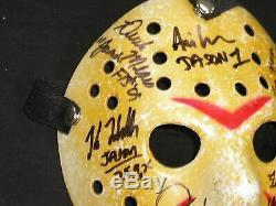 8x Jason Voorhees Acteurs Cast Signé Hockey Masque Vendredi 13 Kane Hodder ++