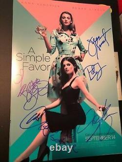 A Cast Simple Faveur Signé 12x18 Photo! Blake Lively Anna Kendrick Autograph