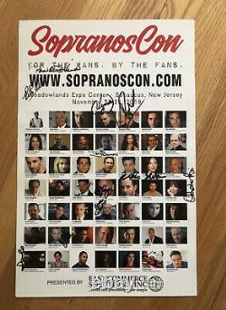 Affiche D'image Signée Sopranos Cast Signée À Sopranos Con Par 12 Membrescast