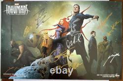 Affiche D'impression Signée Marvel Inhumans Cast Avec 11 Autographes Abc Sdcc 2017 Exclusive