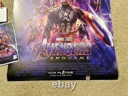 Affiche De Cinéma Avengers Endgame Cast Signed Premiere Autograph 27x40 Avec Badge