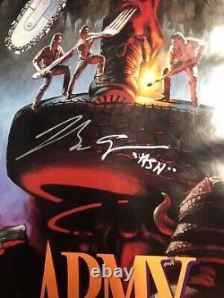 Affiche De Cinéma Evil Dead Army Of Darkness 1992 Cast Autographié Jw581