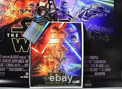 Affiche De Cinéma Signée Star Wars Cast Star Wars Episode VII La Force Awakens Coa