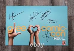 Affiche Signée Glee Cast Sdcc Comic Con Darren Criss Harry Shum Jr Fox Studios