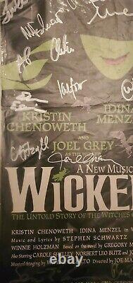 Affiche Signée Idina Menzel Kristin Chenoweth De Broadway En Fonte Originale