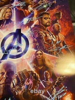 Affiche Signée Par Avengers Infinity War Cast Stan Lee & Chadwick Boseman Auto Coa