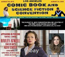 Agent Carter Cast(x3) Authentic Hand-signé Hayley Atwell 11x17 Photo (proof)