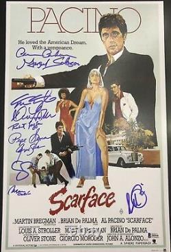 Al Pacino Et Le Casting Signé 11x17 Scarface Movie Poster Photo Bas Coa 10 Sigs