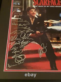 Al Pacino Scarface Cast Autographe Signé Auto Framed Affiche De Cinéma Photo Beckett