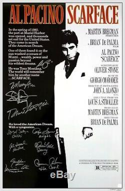 Al Pacino & Scarface Cast Autographié Affiche Du Film Asi Proof