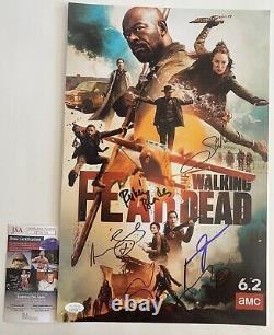 Amc Peur De La Marche Mort Cast Signé X5 11x17 Affiche Autographiée Ftwd Jsa Coa