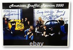 American Graffiti Cast Autographié 12x18 Photo Howard Dreyfuss Le Mat 3 Jsa Coa