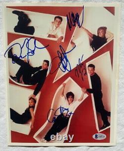 Amis 5 Membres De Casting Signé Autographe 8x10 Photo Jennifer Aniston + Avec Beckett