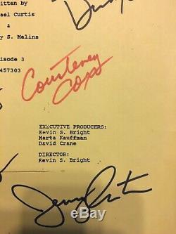 Amis Cast Autographe Final Projet De Script 8-18-1995super Rare! Avec Coa