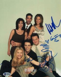 Amis Full Cast Signé Autographe 8x10 Photo Courtney Cox, Jennifer Aniston +