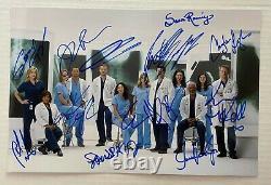 Anatomie Du Casting Dédicacé 8x12 Photo Signée Ellen Pompeo Patrick Dempsey Gray