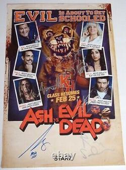 Ash Vs Evil Dead Casting De 5 Signé Autographié 16x24 Affiche Nycc 2017 Exclusive