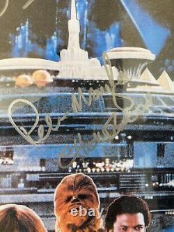 Authentique Star Wars Empire Frappe Retour Cast Affiche De Film Autographe Signée