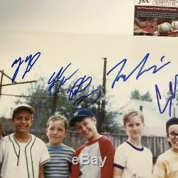 Autographié / A Signé Le Sandlot 8x Cast Signe 16x20 Baseball Film Photo Jsa Coa