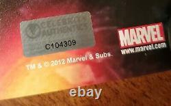 Avengers Cast Affiche Signée Avec Coas