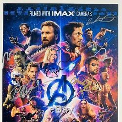Avengers Cast Infinity War Signe 11x17 Photo Bas Loa Johansson Scarlett # A58449