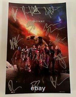 Avengers Endgame Cast Signé Dédicacé 8x12 Pouces Photo Robert Downey Jr