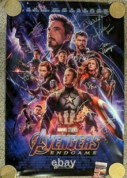 Avengers Endgame Double-sided Theatrical Affiche Signée Par 11 Membres De La Distribution Jsa