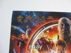 Avengers Infinity War Cast Signé 11x17 Photo Chadwick Boseman 9+ Dc/coa Proof
