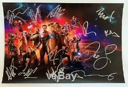 Avengers Infinity War Cast Signé Dédicacé 8x12 Photo Robert Downey Jr. Coa