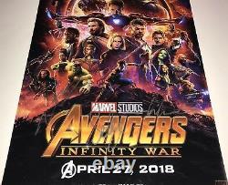 Avengers Infinity War Cast X3 Signé 12x18 Photo En Personne Autographe Jsa Coa