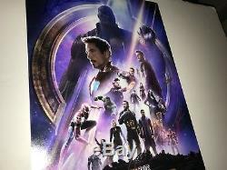 Avengers Infinity War X6 Cast Signé 12x18 Photo En Personne Autograph Jsa Coa