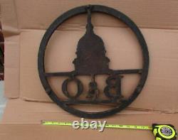 B&o Rail Road Baltimore & Ohio Train Engine Sign Plaque Cast Iron Original